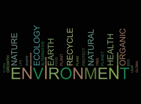 ENVIRONMENT  text bar-code Vector
