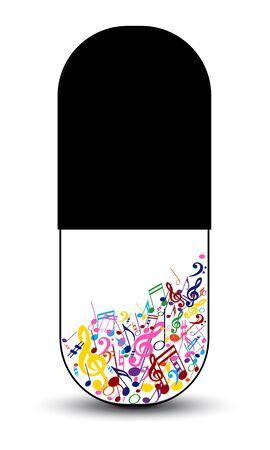 Music as medicine drug Stock Vector - 19917805