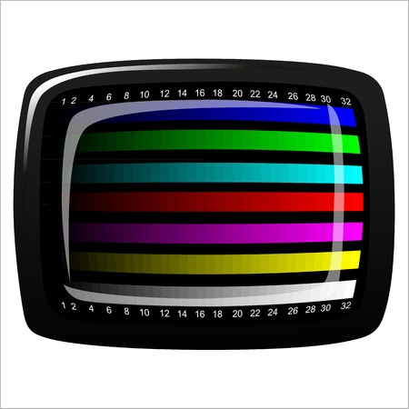 tv - color test pattern - test card Stock Vector - 19917831
