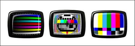 tv - color test pattern - test card Stock Vector - 19917874