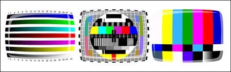 tv - color test pattern - test card Stock Vector - 19917826