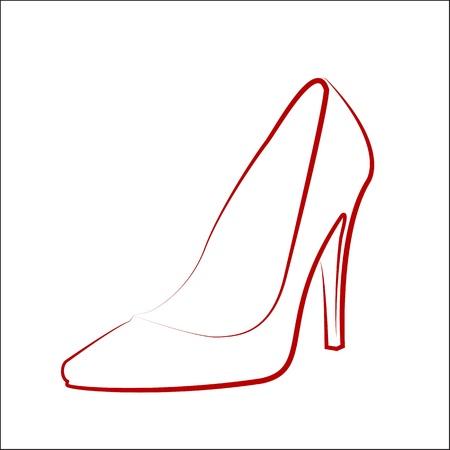 footwears: Woman Illustration