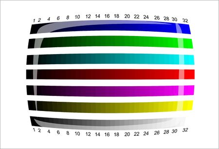 tv - color test pattern - test card Stock Vector - 19917788