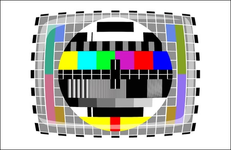 tv - color test pattern - test card Stock Vector - 19917778