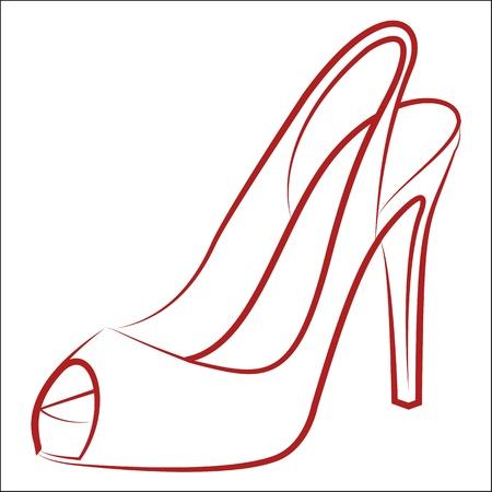 high heel: Woman Illustration