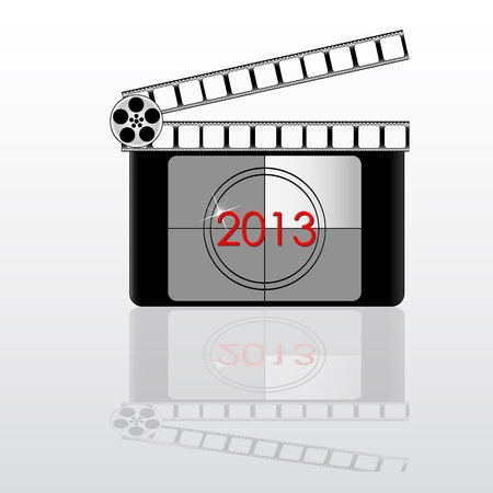 colorful 2013 year Film countdown vector Stock Vector - 19917916
