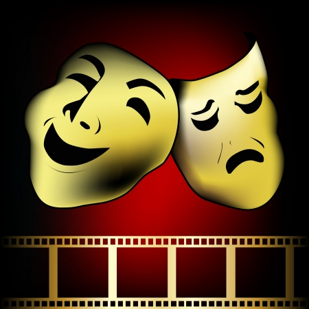 theatrical mask of tragedy and comedy  Stock Vector - 20043926