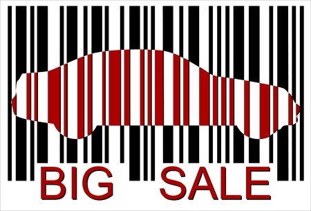 big sale car bar-code credit cardt, Isolated over background Stock Vector - 20043883