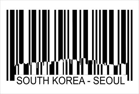 seoul: Recherch� Cor�e S�oul barres Isol� sur fond et les groupes