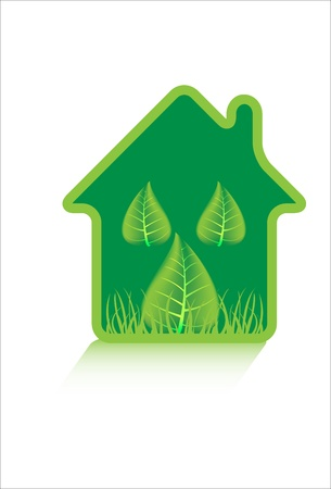 Eco green house symbol Vector