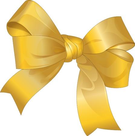 gift golden bow Stock Vector - 20167014