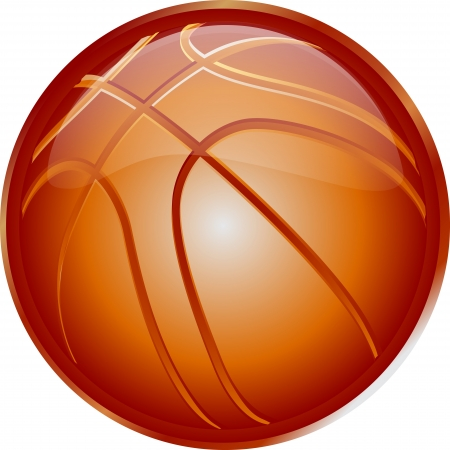 basketball net: ORANGE basketball