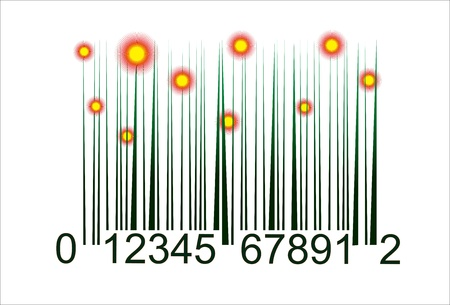 nature bar code Vector