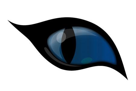 dark eyes: BLUE cat eye Illustration