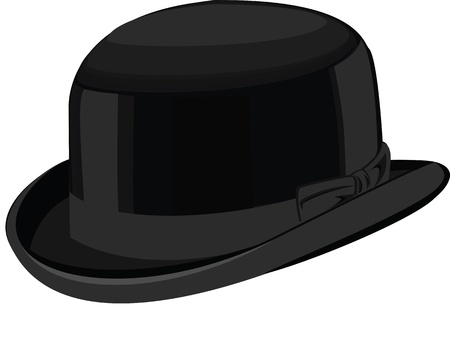 stylish black hat Illustration