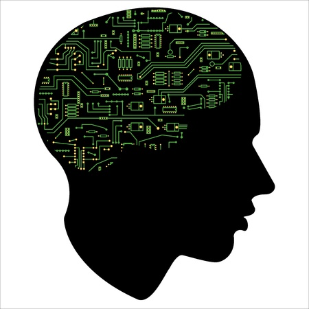 human mind: Electronic of the human mind,  Illustration