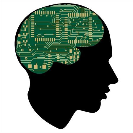 had: motherboard of the human mind Illustration
