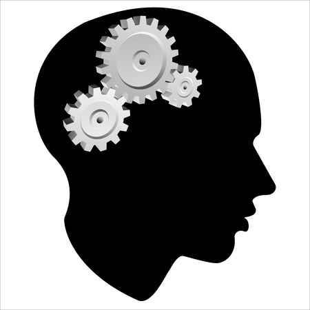 pinion: GEAR of the human mind, vector