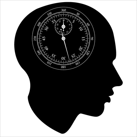 STOPWATCH of the human mind, Stock Vector - 20044029