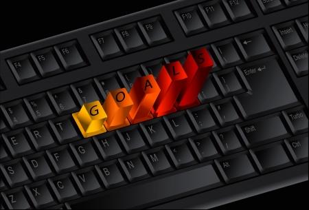 GOALS keys on the keyboard Stock Vector - 20044145