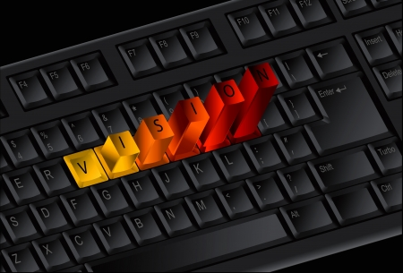 Vision keys on the keyboard Vector