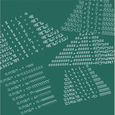 scalar: Mathematical school board isolated over white background and groups Illustration