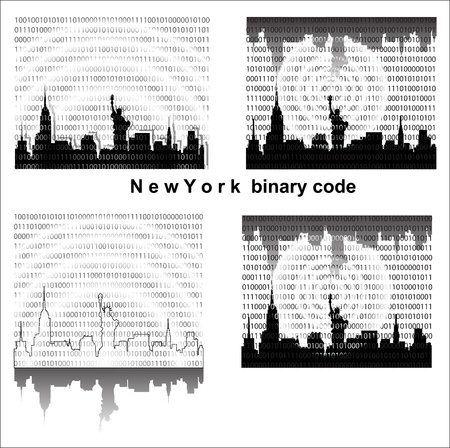 straps: Naw York binary code Illustration
