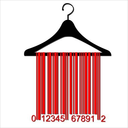 Barcode Kleiderb?gel Standard-Bild - 20044014
