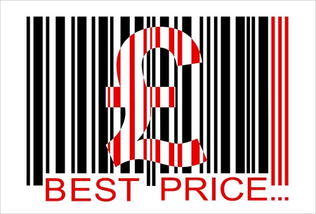 pound barcode,  best price Vector