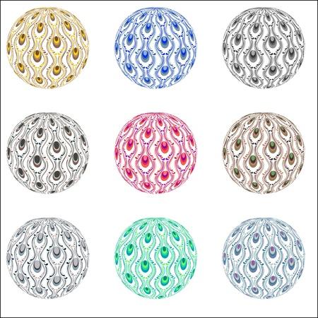 beautiful ornament ball Stock Vector - 20240573