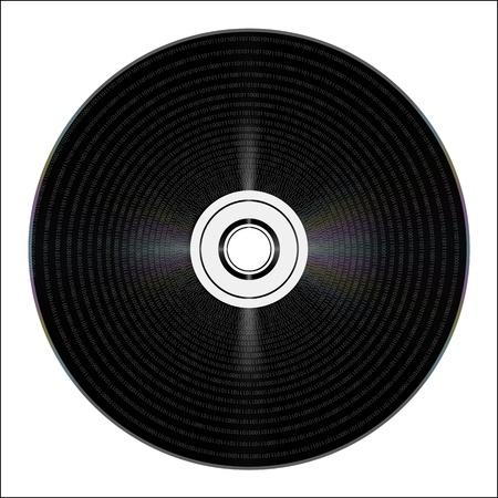 cd with binary code. vector Stock Vector - 20240576