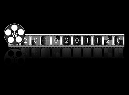 year Film countdown vector  Stock Photo - 20240525