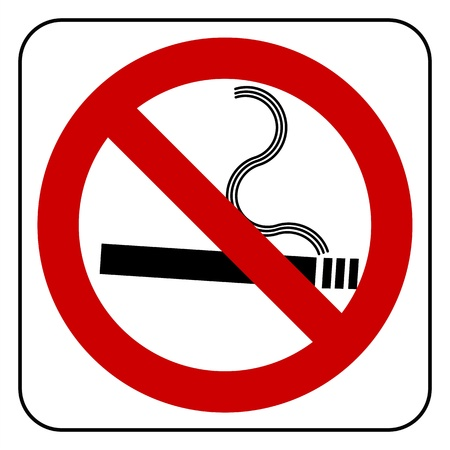 no smoking symbol, vector Vector