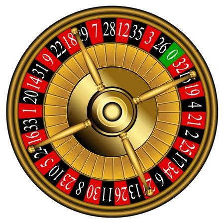 Roulette wheel Vector Illustration