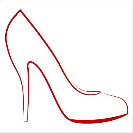 Womans shoe, vector sketch
