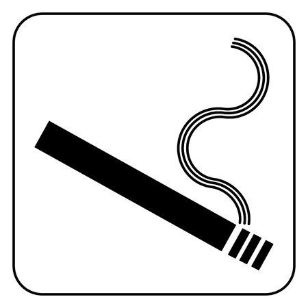 smoking area symbol, vector Stock Vector - 20240360