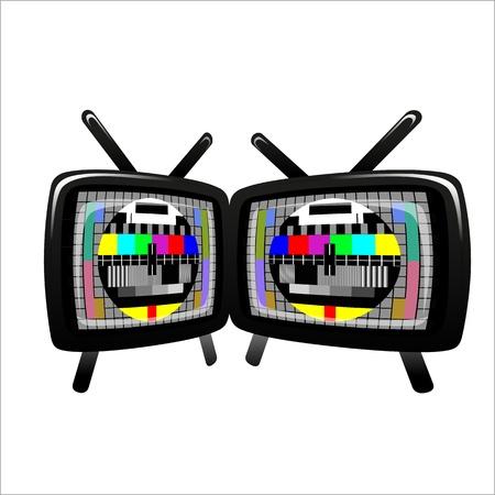 テレビ - 色テスト パターン - テスト カード、ベクトル 写真素材