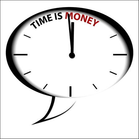 time keeping: Clock Time is Money Illustration