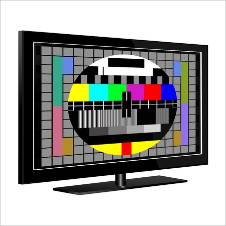 tv - color test pattern - test card, vector Stock Vector - 20240402