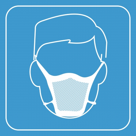 face surgery: hospital mask-safety equipment  symbol, vector