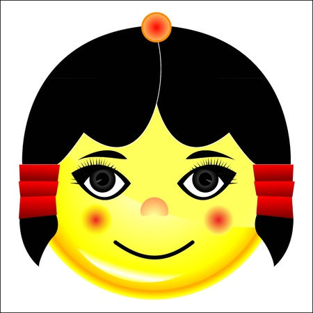 girl smile character Stock Vector - 20282792