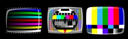 テレビ - 色テスト パターン - テスト カード、ベクトル  イラスト・ベクター素材