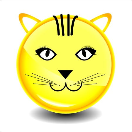 Cat  smile character Stock Vector - 20282786