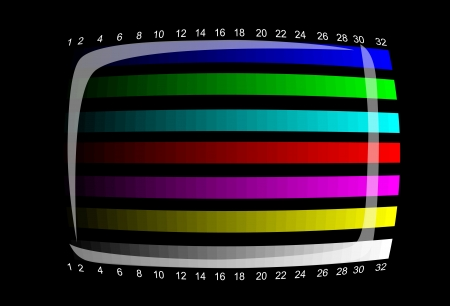 tv - color test pattern - test card Vector