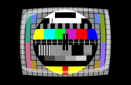 tv - color test pattern - test card, vector Vector