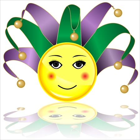 greet eyes: court jester smile character