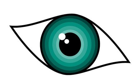 clarity: Beautiful green woman eye symbol Stock Photo