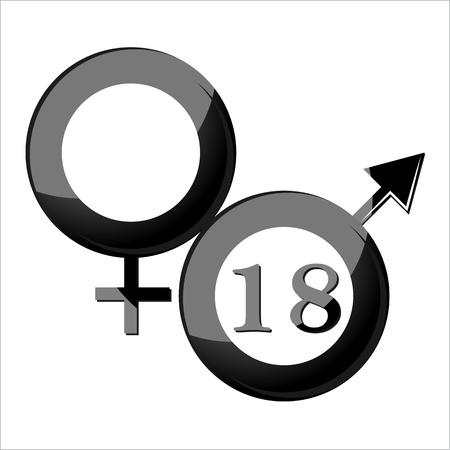 blacl sex forbidden mark Stock Vector - 21003028