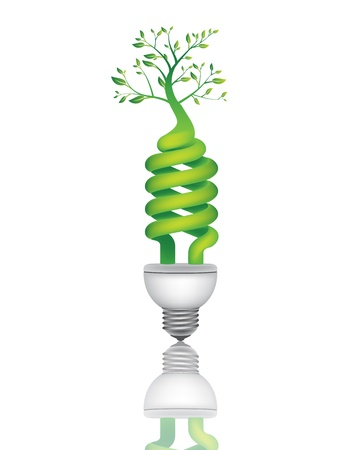 save energy icons:  ECO tree BULB