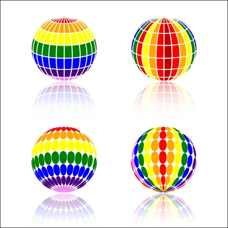 colorful Sphere Stock Vector - 21003141